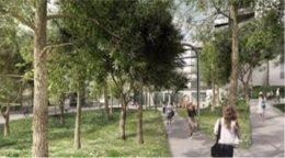 Maqueta de la futura Plaça de les Dones de Nou Barris (Barcelona)