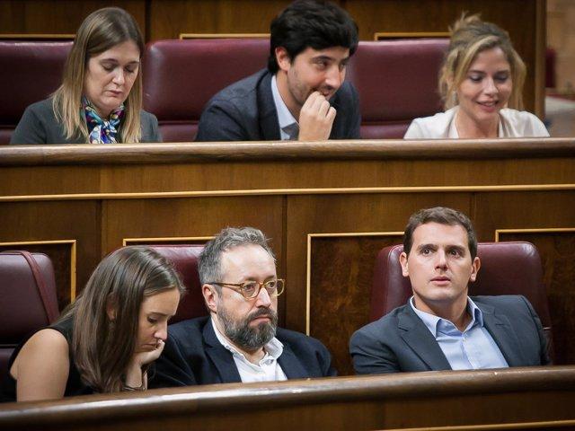 Melisa Rodríguez, Juan Carlos Girauta y Albert Rivera