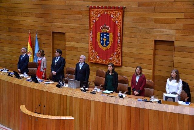 Pleno solemne de inicio de la X legislatura del Parlamento gallego