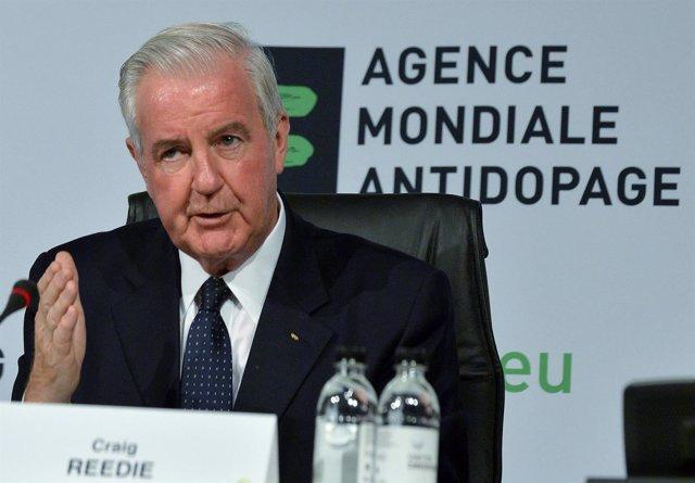 El presidente de la Agencia Mundial Antidopaje (AMA) Craig Reedie