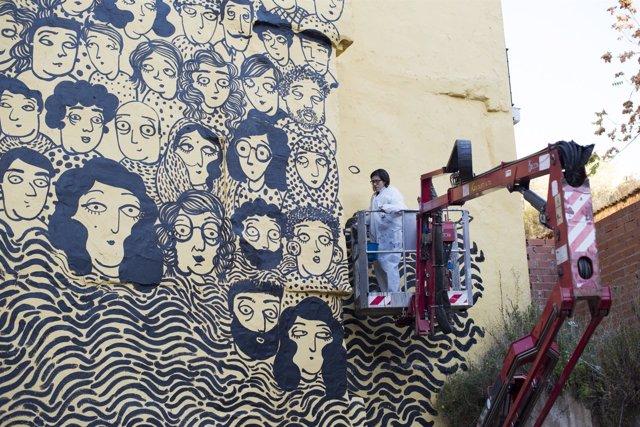 Pintura del mural