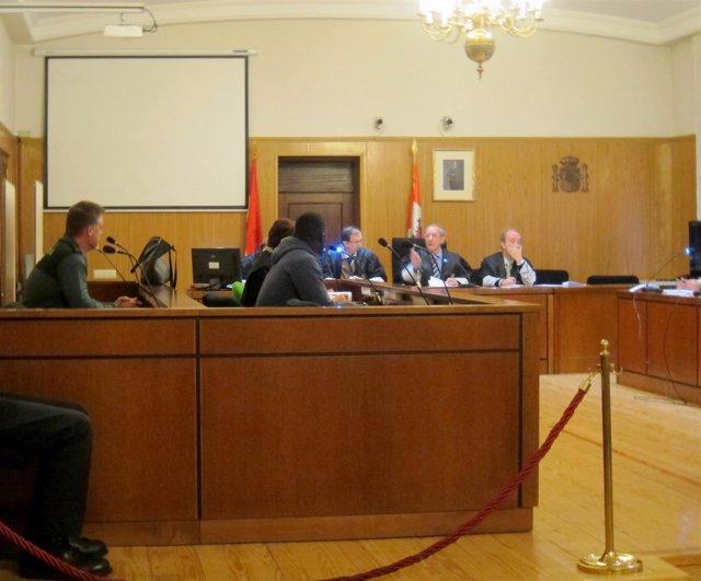 El acusado, durante el juicio celebrado en la Audiencia de Valladolid.