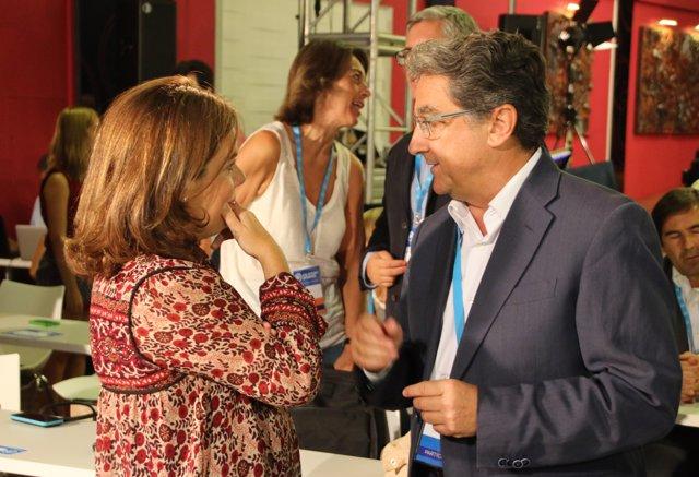 Soraya Sáez de Santamaría y Enric Millo
