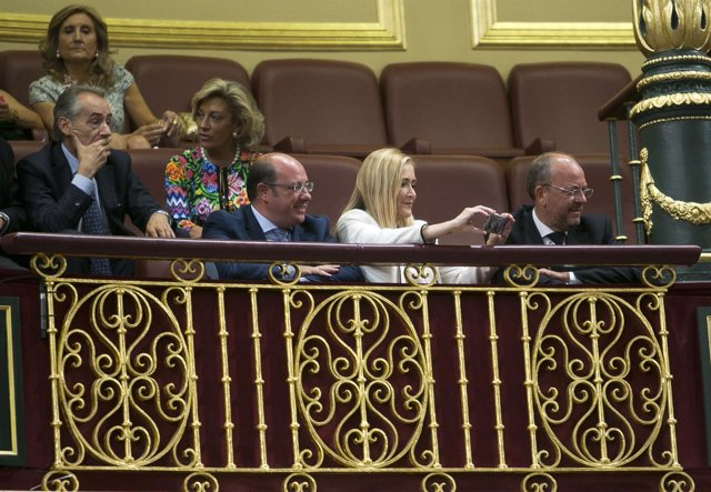 Pedro Antonio Sánchez, en la sesión constitutiva de la XII Legislatura