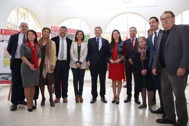 Puig y Montón, entre otros, en la presentación de obras en el Hospital Militar