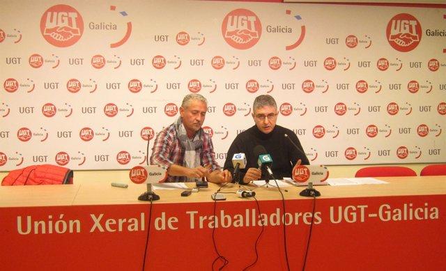 Manuel González Carvajal y Manuel Díaz Mato (UGT)