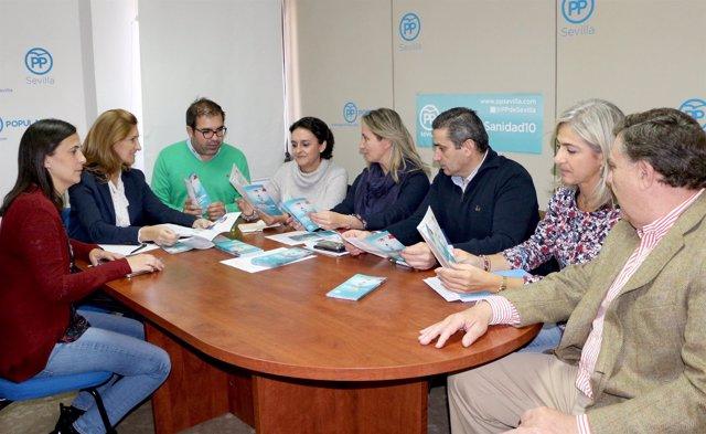 Reunión de representantes del PP y de CSIF