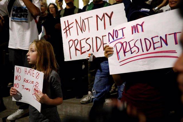 Manifestación contra Trump