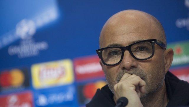 Jorge Sampaoli, entrenador del Sevilla en rueda de prensa