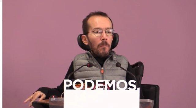 Rueda de prensa de Pablo Echenique