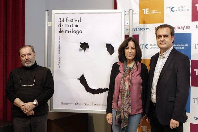 Miguel Gallego, Susana Martín y Juan Antonio Vigar en la presentación.