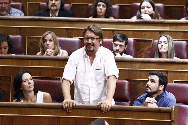 El diputado de Podemos Xavier Domenech en el Congreso