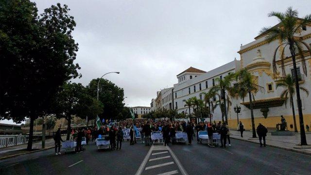 Protestas de los trabajadores de Pascual en Cádiz