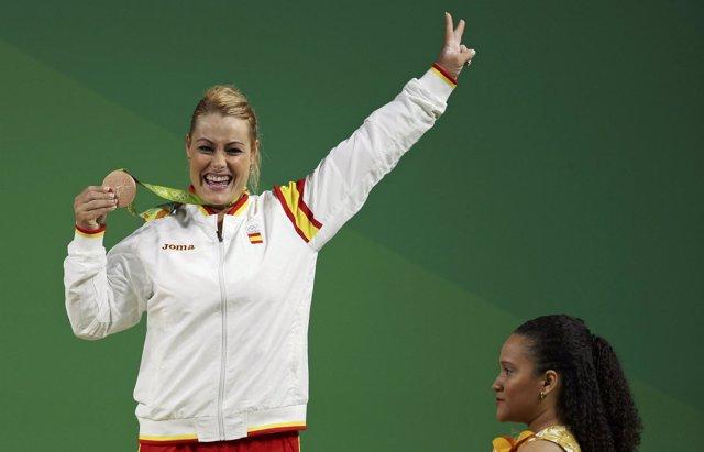 Lidia Valentín gana el bronce en la categoría de -75 kilos