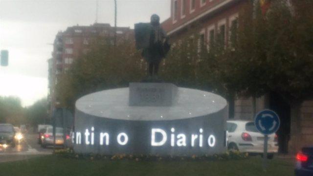La Vocera, en la rotonda de la Plaza Pío XII.