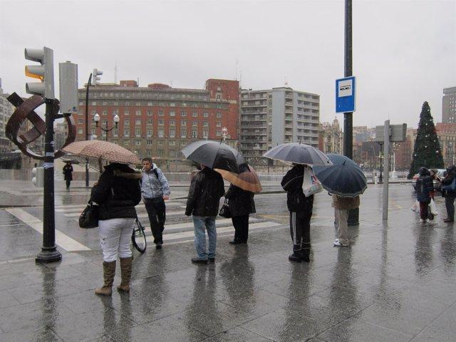 LLuvia en Bilbao