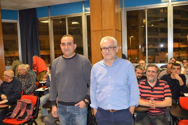 Javier Pacheco y Jaume Sellés (CC.OO.)
