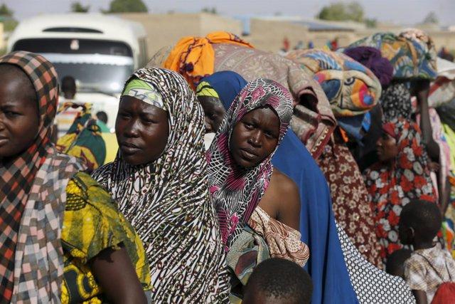 Mujeres desplazadas en el estado de Yobe, en Nigeria.