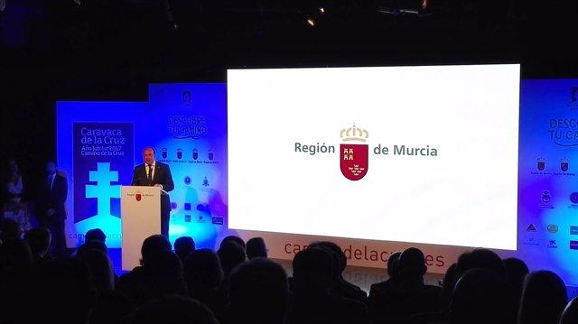 Pedro Antonio Sánchez presenta el Año Jubilar de Caravaca en Madrid