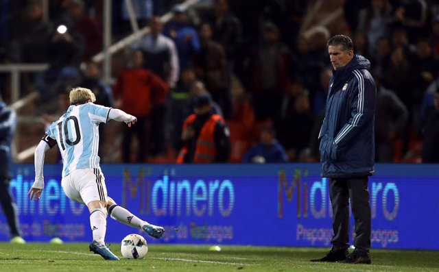 Edgardo Bauza y Leo Messi