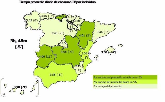 Mapa consumo de TV