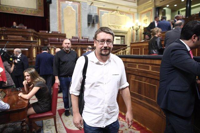 Xavuer Doménech en la investidura de Rajoy