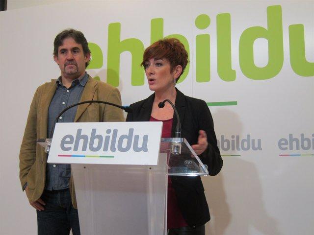 Pello Urizar y Bakartxo Ruiz en la rueda de prensa