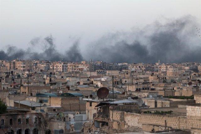 Bombardeos sobre Alepo