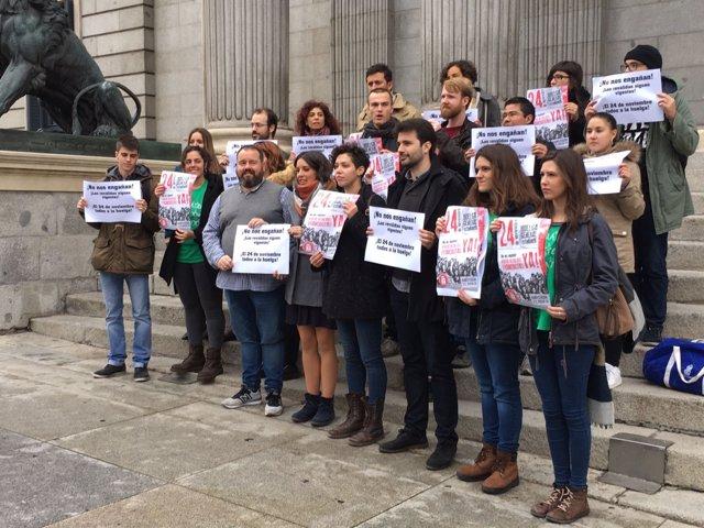 Sindicato de Estudiantes en el Congreso con Mena y Montero