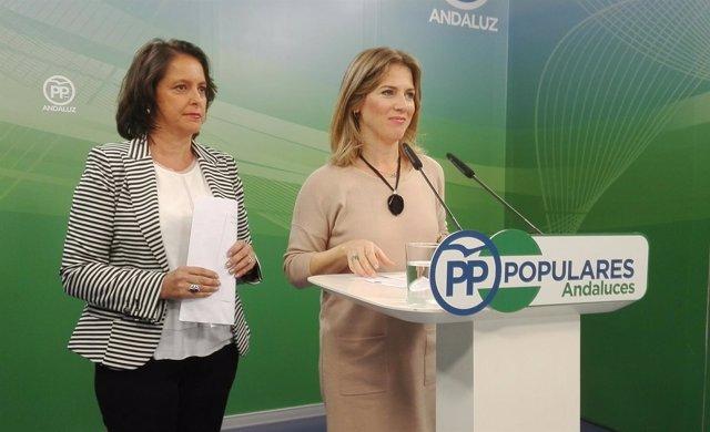Ana Mestre y Catalina García, hoy en rueda de prensa