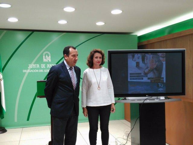 Presentación campaña contra violencia machista Ruiz Espejo Rodríguez