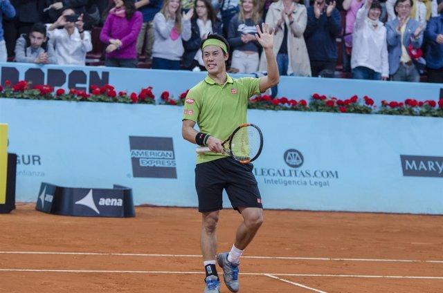 Kei Nishikori en el Mutua Madrid Open 2016