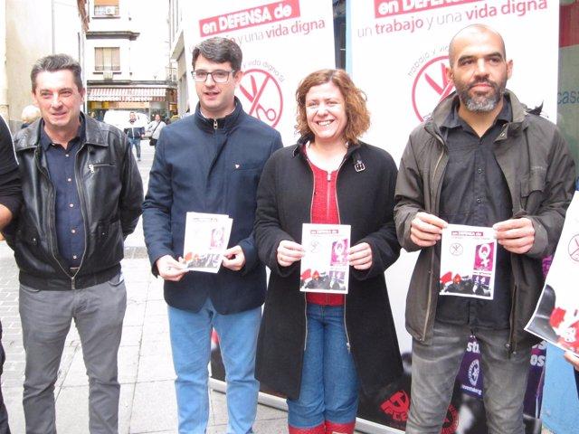 Entella (izda.) con Pedro García, Doblas y Mariscal