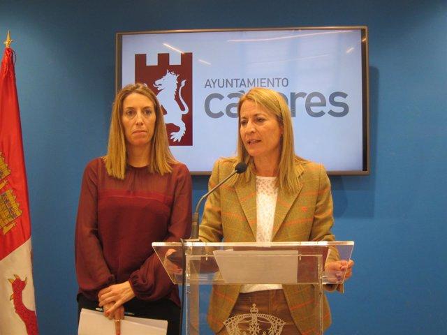 Elena Nevado y María Guardiola presentan el presupuesto de Cáceres