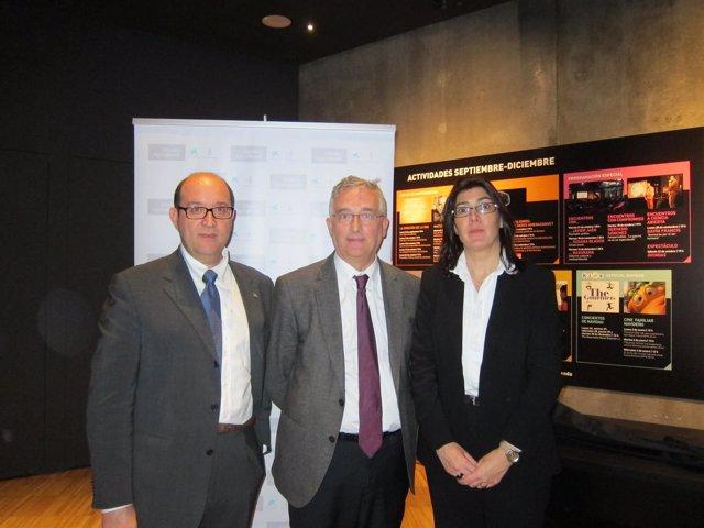 Ramos, Olona y Sabri hoy en CaixaForum Zaragoza