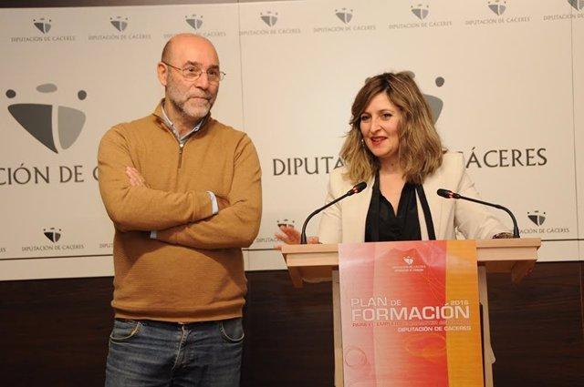 Presentación de cursos de formación de la Diputación de Cáceres