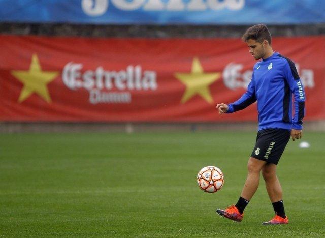 Óscar Melendo, jugador del RCD Espanyol