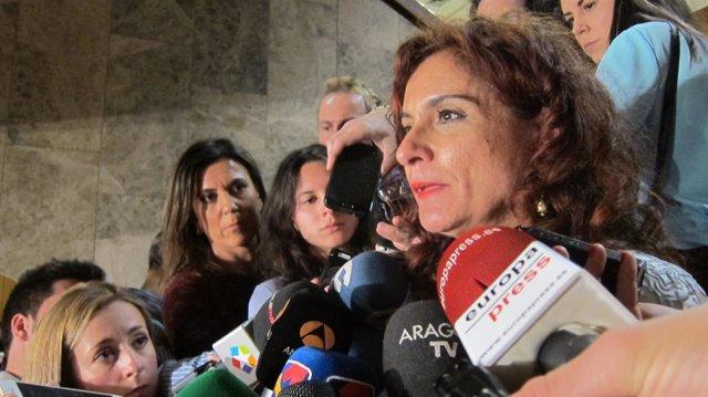 La consejera andaluza de Hacienda, María Jesús Montero