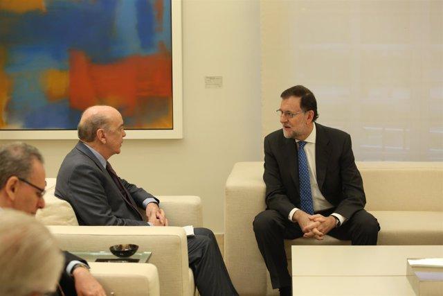 Rajoy con el ministro de Estado de Relaciones Exteriores de Brasil