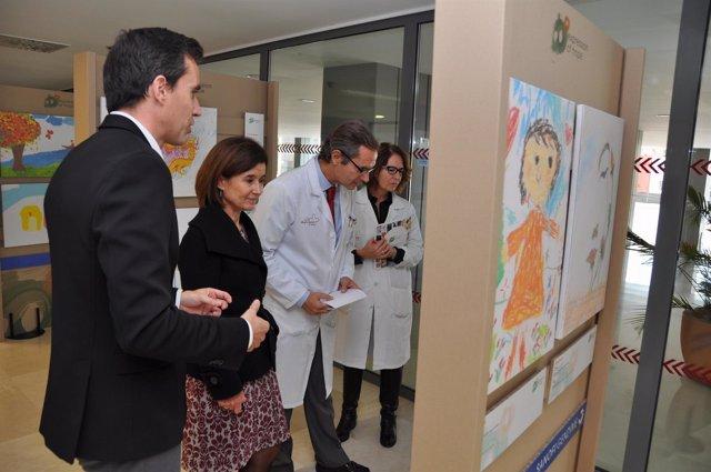 Martínez y Marqués en la inauguración de  'Expression of Hope'