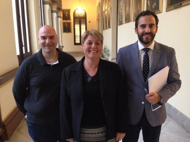 Concejales socialistas en el Ayuntamiento de Málaga