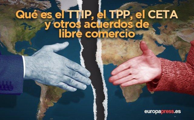 Qué es el TTIP, el TPP, el CETA y otros acuerdos de libre comercio.