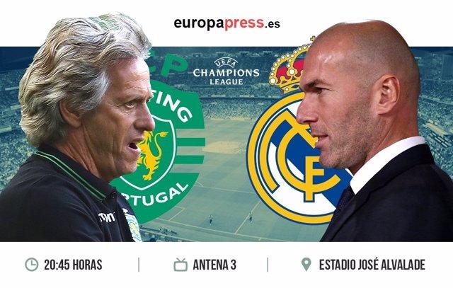 Horario y dónde ver el Sporting de Portugal - Real Madrid