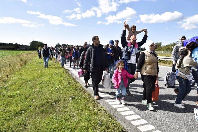 Refugiados hacia Suecia