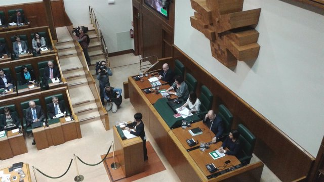 Maddalen Iriarte en el Parlamento vasco