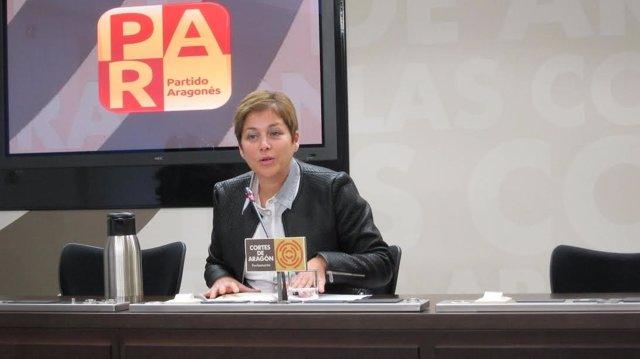 Berta Zapater, diputada del PAR