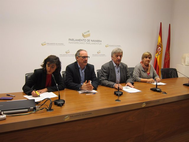 Laura Pérez, Adolfo Araiz, Koldo Martínez y Marisa de Simón.