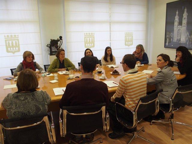 Imagen de la reunión con ARPA