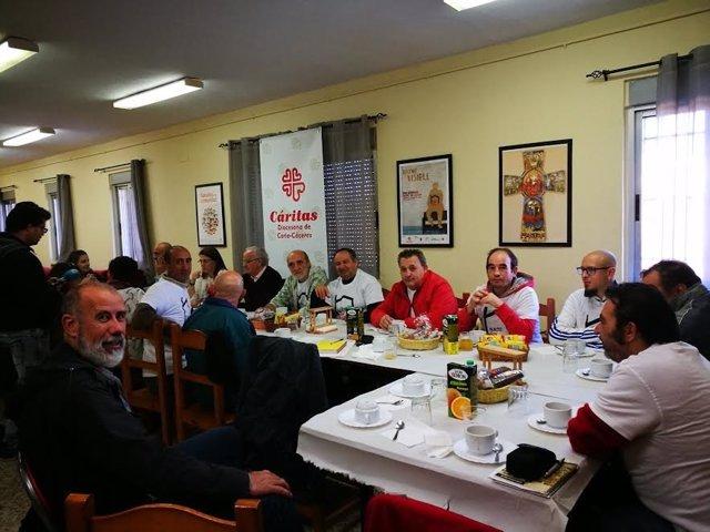 Personas acogidas en el Centro Vida de Cáceres