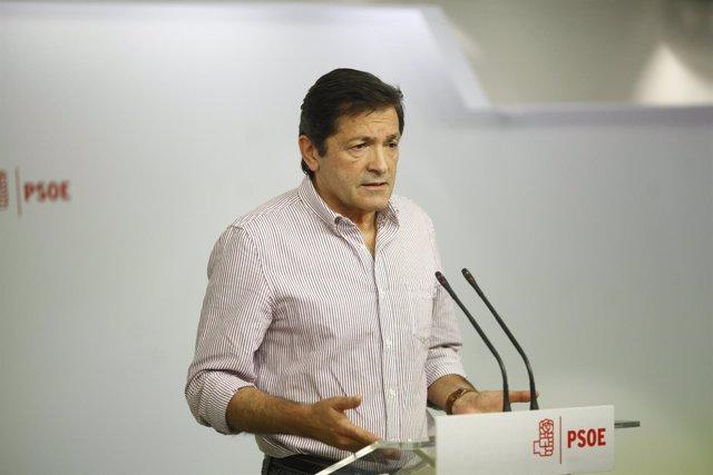 Rueda de prensa de Javier Fernández en Ferraz